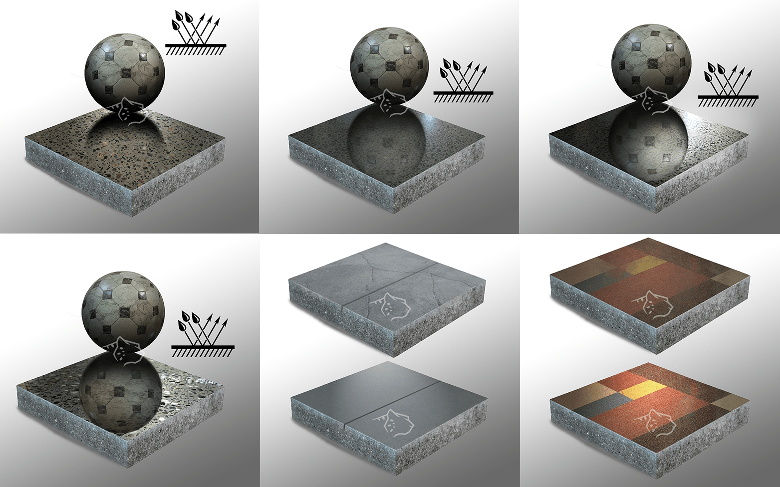 Полированный бетонный пол.